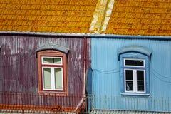 里斯本五颜六色的门面 免版税库存照片