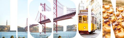 里斯本信件用图片填装了从里斯本市 库存照片