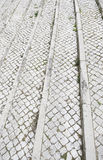 里斯本典型的石地板  免版税图库摄影