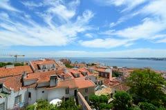 里斯本地平线和特茹河,里斯本,葡萄牙 库存照片