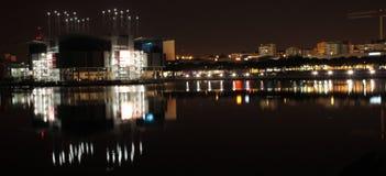 里斯本地平线在晚上 图库摄影