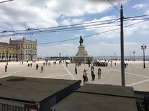 里斯本城市广场 图库摄影
