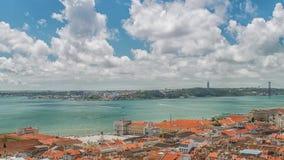 里斯本市和塔霍河全景  影视素材