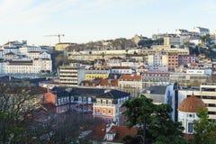 里斯本市天线,葡萄牙 免版税图库摄影