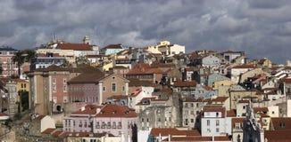 里斯本市屋顶  图库摄影