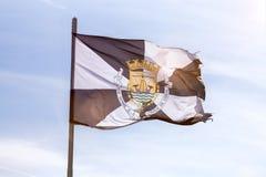 里斯本市葡萄牙旗子  库存图片