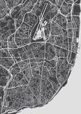 里斯本市计划,详细的传染媒介地图 库存例证