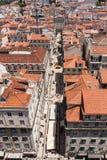 里斯本市鸟瞰图 免版税库存图片