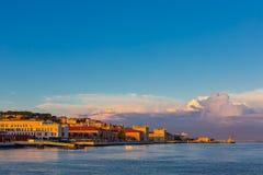 里斯本市,葡萄牙看法  库存照片