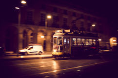 里斯本电车黄色 图库摄影