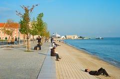 里斯本码头区,葡萄牙 免版税图库摄影