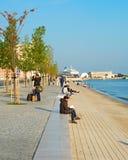 里斯本码头区,葡萄牙 图库摄影