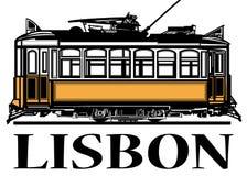 里斯本老经典黄色电车  向量例证