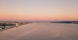 里斯本老镇的空中全景俯视图  库存图片