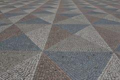 里斯本葡萄牙摘要瓦片路面样式作为背景 免版税库存图片