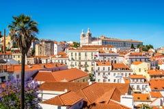 里斯本葡萄牙看法  库存图片
