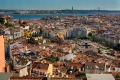 里斯本葡萄牙看法  免版税库存图片