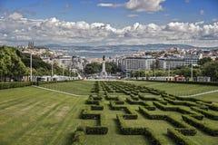 里斯本葡萄牙 对Parque爱德华多的入口VII 图库摄影