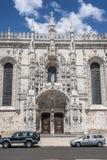 里斯本葡萄牙 Jeronimos修道院 库存图片