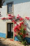 里斯本葡萄牙 Obidos美丽如画,中世纪镇  库存图片
