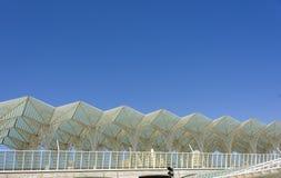 里斯本葡萄牙Oriente火车站 图库摄影