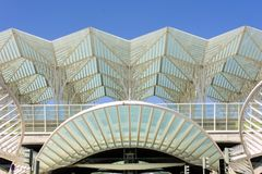 里斯本葡萄牙Oriente火车站 免版税库存照片