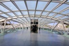 里斯本葡萄牙Oriente火车站 免版税图库摄影
