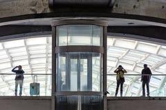 里斯本葡萄牙Oriente火车站 免版税库存图片