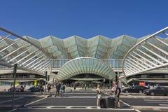 里斯本葡萄牙Oriente火车站 库存图片
