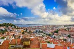里斯本都市风景 免版税库存照片