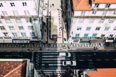 里斯本,葡萄牙全景 库存图片