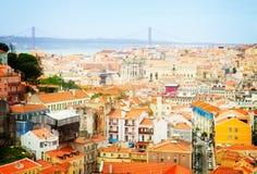 里斯本,葡萄牙地平线  免版税库存图片