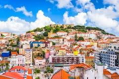 里斯本,葡萄牙地平线 图库摄影
