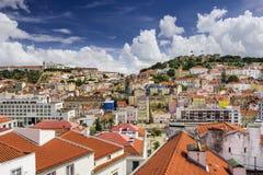 里斯本,葡萄牙城堡 免版税库存照片