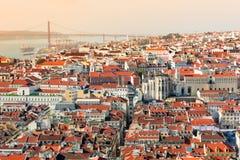 里斯本,葡萄牙看法  库存图片