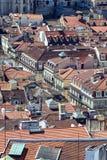 里斯本,葡萄牙老镇鸟瞰图  库存照片