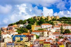 里斯本,葡萄牙老镇 免版税库存照片