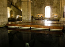 里斯本,葡萄牙:里面Mãe d'à  gua (水的母亲)和瀑布 库存照片