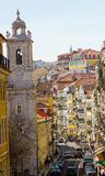 里斯本,葡萄牙:São保罗(圣保罗)街道,街市 免版税库存图片
