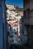 里斯本,葡萄牙- 2011年2月01日:在塞图巴尔distri的Sesimbra 免版税库存照片