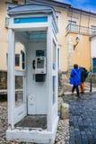 里斯本,葡萄牙- 2011年1月28日:Alfama邻里的看法 免版税库存图片