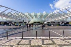 里斯本,葡萄牙- 2017年2月01日:Gare做Oriente东方驻地,一个公共交通工具插孔 免版税库存图片