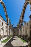里斯本,葡萄牙- 2017年5月17日:卡尔穆女修道院在里斯本 图库摄影