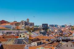 里斯本,葡萄牙- 2017年5月19日:卡尔穆Conven的鸟瞰图 免版税库存图片