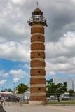 里斯本,葡萄牙- 2017年5月18日:在塔霍河Riv的老灯塔 库存图片