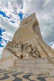 里斯本,葡萄牙- 2017年5月18日:对发现的纪念碑 免版税库存照片