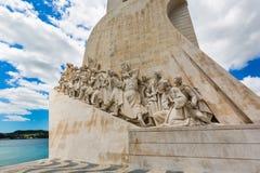 里斯本,葡萄牙- 2017年5月18日:对发现的纪念碑 库存图片