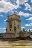 里斯本,葡萄牙- 2017年5月18日:标记的历史的贝伦塔 库存照片
