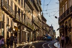 里斯本,葡萄牙- 2017年5月19日:从街道的看法在h 免版税库存图片
