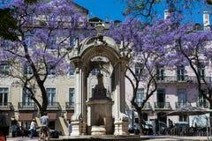 里斯本,葡萄牙- 2017年5月17日:从O街道的片段  库存照片